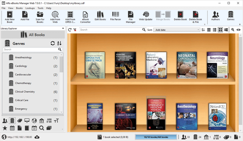 Electronic Library Management System Alfa Ebooks Manager